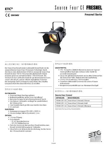 ETC Fresnel Datenblatt