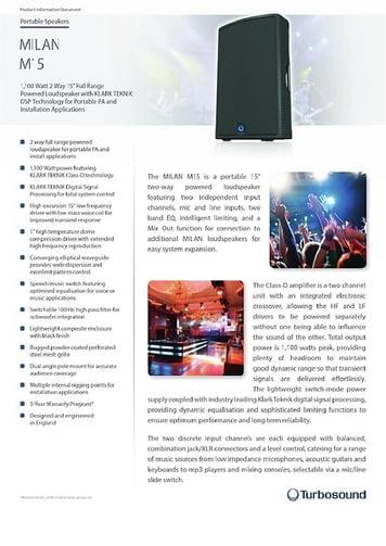 Turbosound Milan M15 – Thomann UK