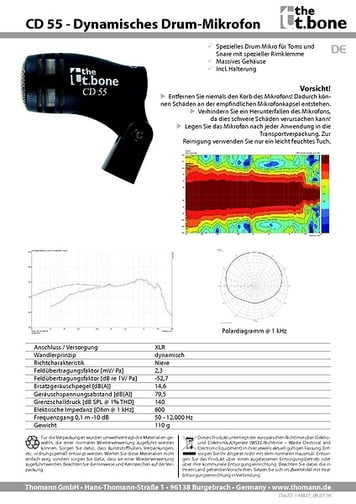 Datenblatt: CD 55
