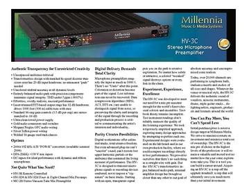 Millennia HV-3C – Thomann Elláda