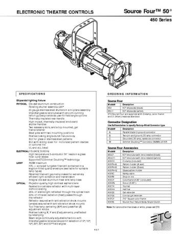 ETC Source Four 50° Profiler Specs