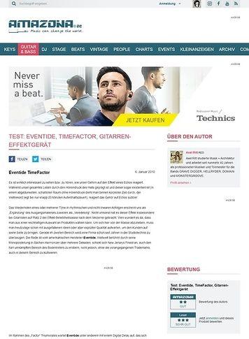 Amazona.de Test: Eventide, TimeFactor, Gitarren-Effektgerät