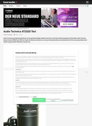 Bonedo.de Audio Technica AT2020