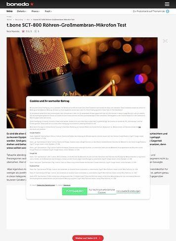 Bonedo.de the t.bone SCT-800