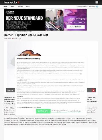Bonedo.de Höfner HI Ignition Beatle Bass