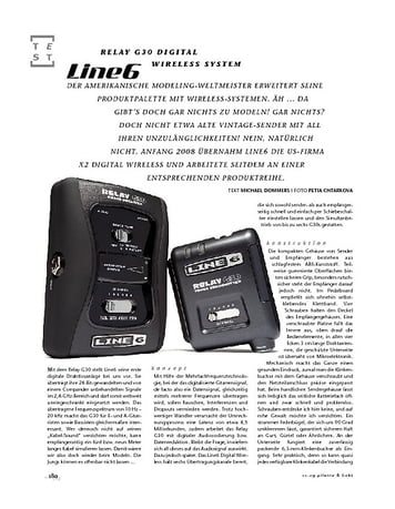 Gitarre & Bass Line6 Relay G30 Digital Wireless System