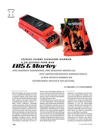 Gitarre & Bass EBS & Morley Stanley Clarke & TM Stevens Fonk Signature Wahs