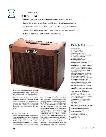 Gitarre & Bass Kustom Sienna65, Acoustic-Amp