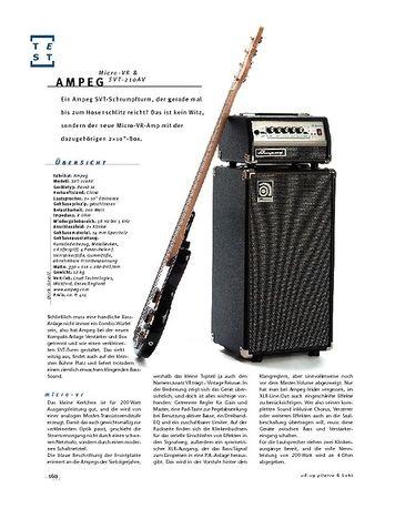 Gitarre & Bass Ampeg Micro-VR & SVT-210AV, Micro-Bass-Anlage