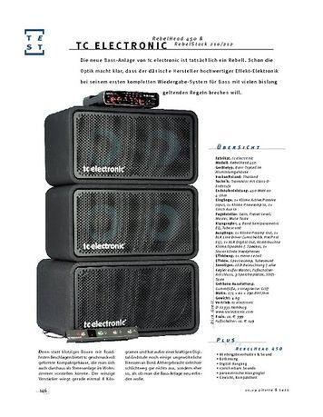 Gitarre & Bass tc electronic RebelHead & RebelStack, Bass-Anlage