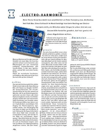 Gitarre & Bass Electro-Harmonix Voice Box, Effekt-Gerät