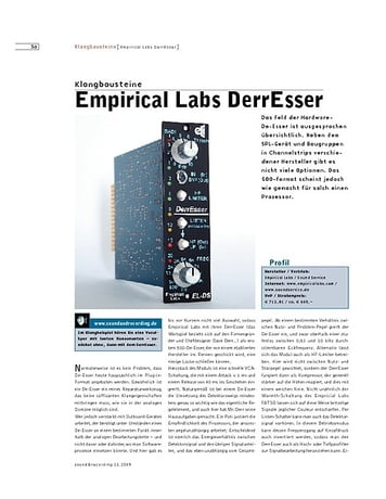 Sound & Recording Empirical Labs DerrEsser