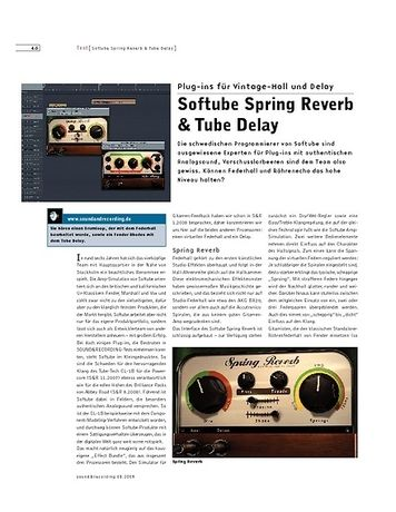 Sound & Recording Softube Spring Reverb & Tube Delay
