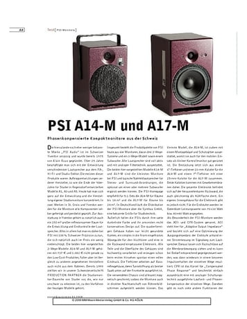 Sound & Recording PSI A14-M und A17-M