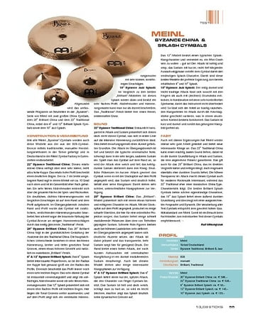 Sticks Meinl Byzance China & Splash Cymbals