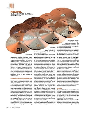 Sticks Meinl Byzance Ride-Cymbals