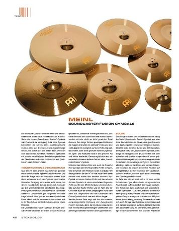 Sticks MEINL Soundcaster Fusion Cymbals