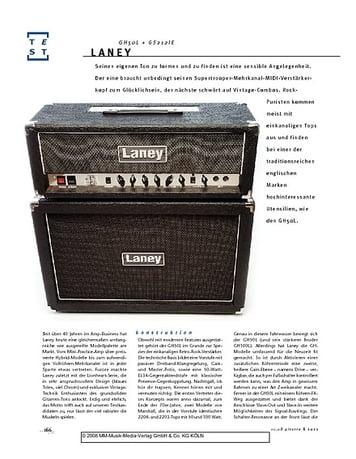 Gitarre & Bass Laney GH50L + GS212IE, Gitarren-Half-Stack