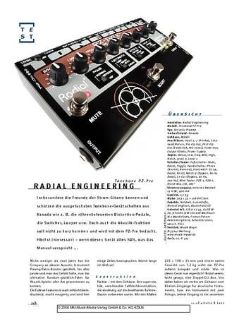 Gitarre & Bass Radial Engineering Tonebone PZ-Pre, A-D.I./Preamp