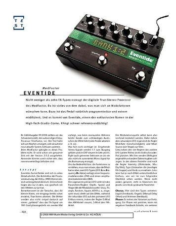 Gitarre & Bass Eventide ModFactor, Effekt-Pedal
