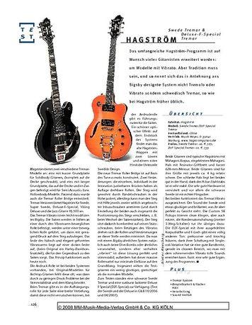 Gitarre & Bass Hagström, Swede Trema & Deluxe Special Trema, E-Gitarren