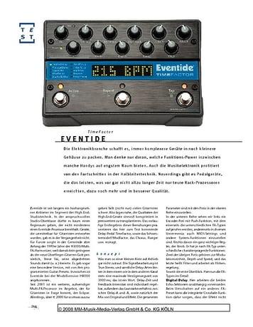 Gitarre & Bass Eventide TimeFactor, Effekt-Pedal