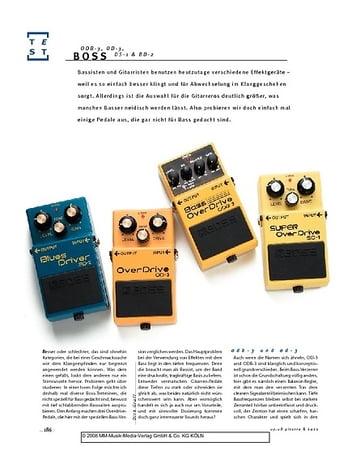 Gitarre & Bass Boss ODB-3, OD-3, SD-1 & BD-2 für Bass