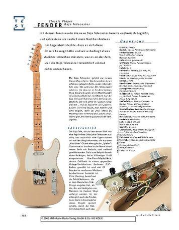 Gitarre & Bass Fender Classic Player Baja Telecaster, E-Gitarre