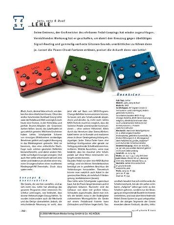 Gitarre & Bass Lehle 3at1, 1at3 & Dual, Signal-Looper
