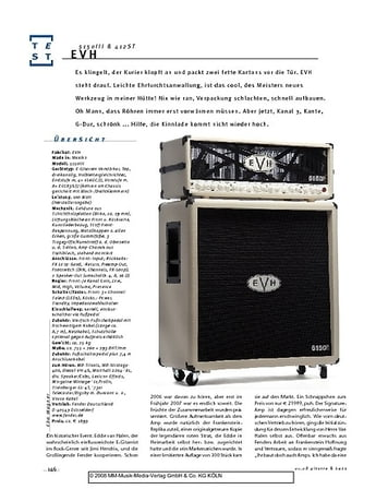 Gitarre & Bass EVH 5150III & 412ST, Gitarren-Anlage