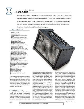 Gitarre & Bass Roland Cube Street, Stereo-Combo-Verstärker