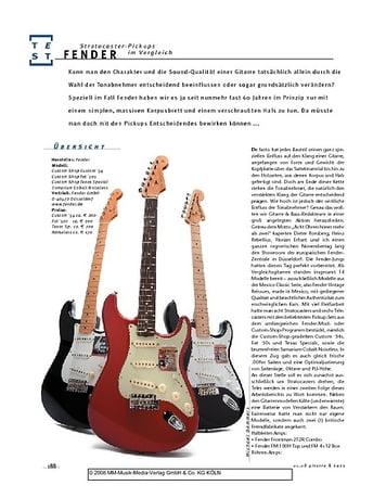 Gitarre & Bass Fender Stratocaster Pickups im Vergleich