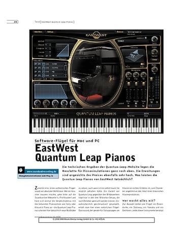 Sound & Recording EastWest Quantum Leap Pianos