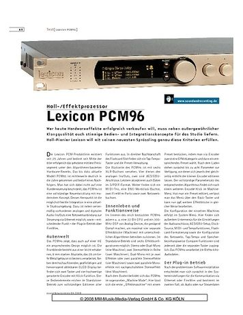 Sound & Recording Lexicon PCM96