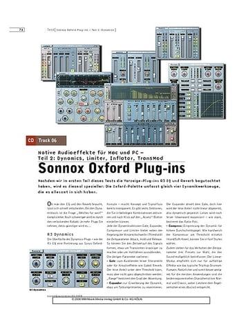 Sound & Recording Sonnox Oxford Plug-ins