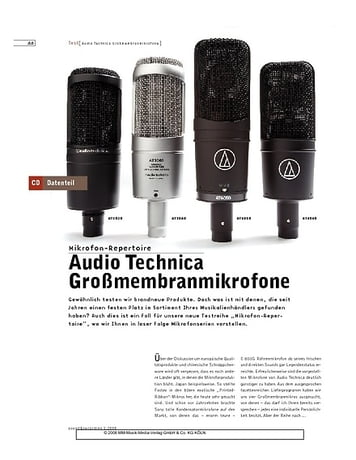 Sound & Recording Audio Technica Großmembranmikrofone