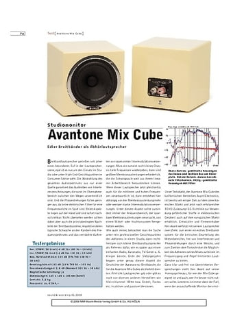 Sound & Recording Avantone Mix Cube