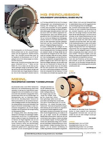 Sticks Meinl Recording Combo Tambourines