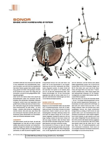 Sticks Sonor Basic Arm Hardware System