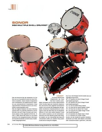 Sticks Sonor SQ2 Multiple Shell Drumset