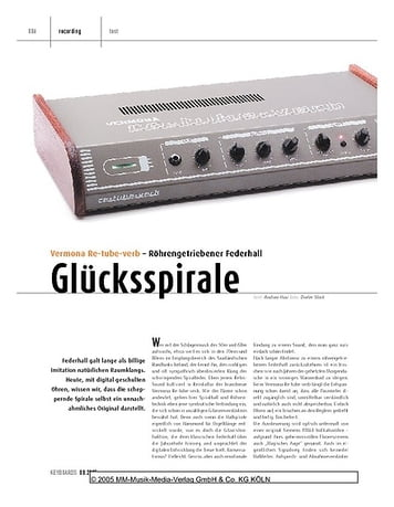 Keyboards Vermona Re-tube-verb - Rohrengetriebener Federhall