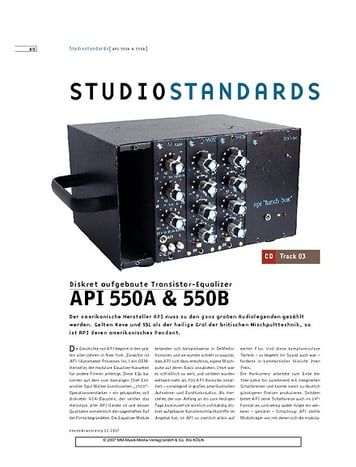 Sound & Recording API 550A & 550B