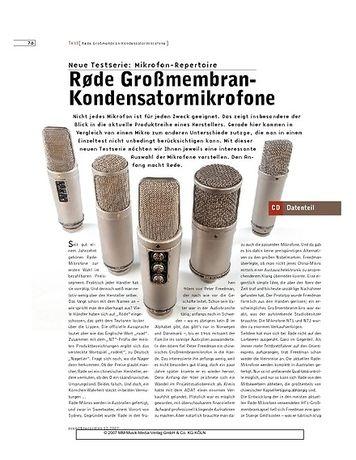 Sound & Recording Rode Großmembran-Kondensatormikrofone