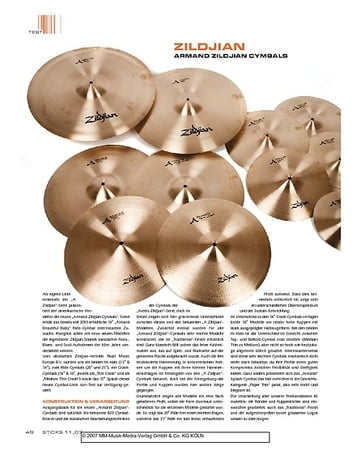 Sticks Zildjan Armand Series Cymbals