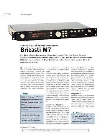 Sound & Recording Bricasti M7