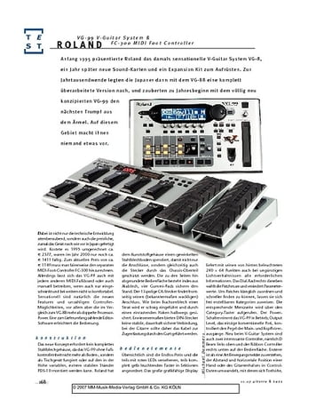 Gitarre & Bass Roland VG-99 V-Guitar System & FC-300 MIDI Foot Controller