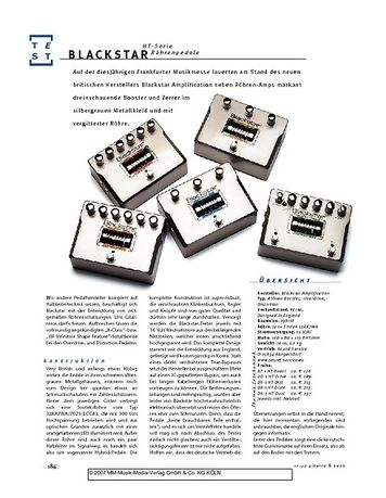Gitarre & Bass Blackstar HT-Serie Röhrenpedale
