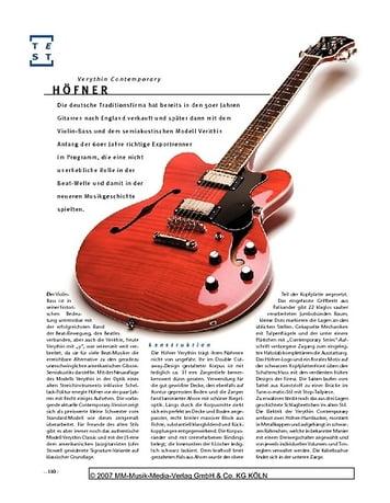 Gitarre & Bass Höfner Verythin Contemporary, Semiacoustic-E-Gitarre
