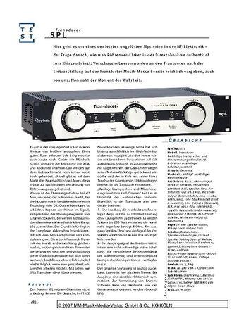 Gitarre & Bass SPL Transducer, Speaker- und Mikrofonierungs-Simulator