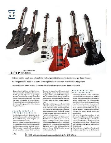 Gitarre & Bass Epiphone Thunderbird, E-Bässe
